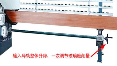 Input synchronous lifting can adjust the glass grinding