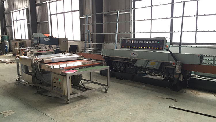 ZM11325A Glass polishing machine working at customer's factory