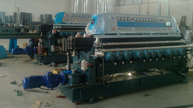 ZXM371 Installation of the glass beveling machine
